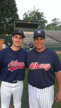 Bob and his son Bobby at Father-Son game in Cooperstown a few years ago.