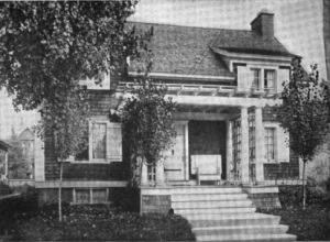 Van der Veer's Arnold Avenue studio/home was a barn that was converted by her dad.
